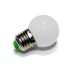 Żarówka LED E27 BIAŁA Kulka 1W SPECTRUM cw
