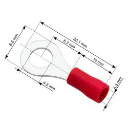KONEKTOR OCZKOWY izilowany M4 4,3mm 10SZT 43-013 Woreczki i torby foliowe