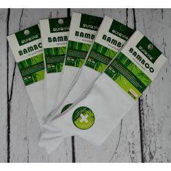BAMBUS skarpety BAMBUSOWE 5PAR 35-38 białe Woreczki i torby foliowe