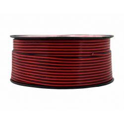 Przewód zasilający dwużyłowy 2x0,22mm czarny 100mb