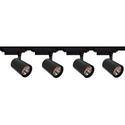 ZESTAW 4 reflektory szynowe LED 30W szyna 2m kolor