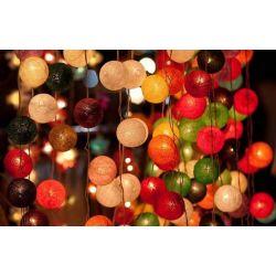 LAMPKI girlanda DUŻE KULE LAMPIONY LED 60szt. Woreczki i torby foliowe
