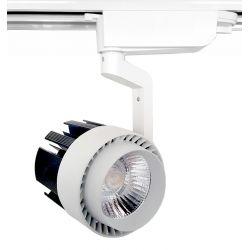 Lampa szynowa LED 20W BIAŁA 1-fazowa zimna gd217