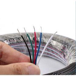 Kabel przewód LED pięciożyłowy RGBW 5x05mm2
