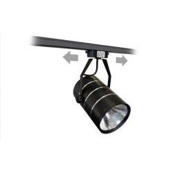 Lampa szynowa LED 30W CZARNA jednofazowa zimna Wyposażenie pomieszczeń
