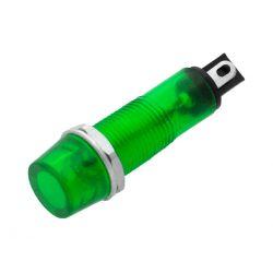 KONTROLKA LED LAMPKA 230V AC ZIELONA 6mm  0655