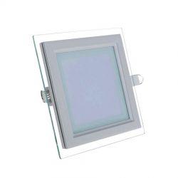 Plafon sufitowy LED kwadrat szkło FIN 6W naturalny