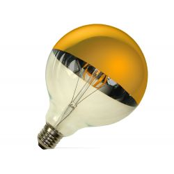 OZDOBNA ŻARÓWKA LED FILAMENT G125 E27 6W GOLD 0374