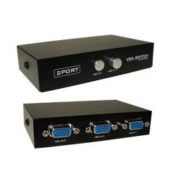 PRZEŁĄCZNIK SWITCH VGA 2 komputery 1 monitor 5440 TV i Video