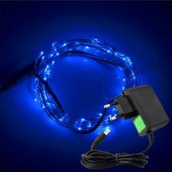 Lampki na drucie 100 LED/10mb 230V niebieskie