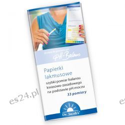 Papierki lakmusowe 33 sztuki Zdrowie, medycyna
