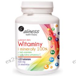 Witaminy i minerały 100% x 120 tabletek Zdrowie, medycyna