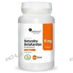 Naturalny BetaKaroten 15 mg (ProWitamina A 25 000 IU) x 100 tab. vege Zdrowie, medycyna