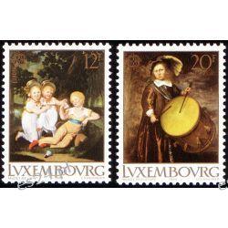 Luksemburg 1989 Mi 1219-20 ** Cept Dzieci Muzyka  Druk wklęsły