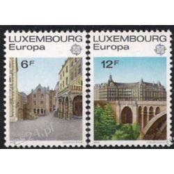Luksemburg 1977 Mi 945-46 ** Europa Cept Most  Marynistyka