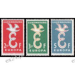 Luksemburg 1958 Mi 590-92 ** Europa Cept Gołąb  Marynistyka