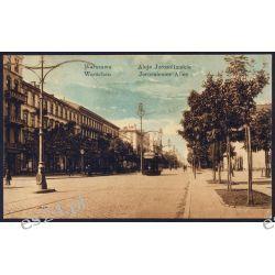 Warszawa 1917 Aleje Jerozolimskie Tramwaj obieg 8