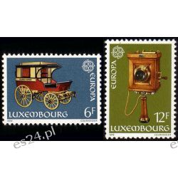 Luksemburg 1979 Mi 987-88 ** Europa Cept Telefon Kolejnictwo