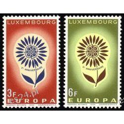 Luksemburg 1964 Mi 697-98 ** Europa Cept Kwiaty Malarstwo
