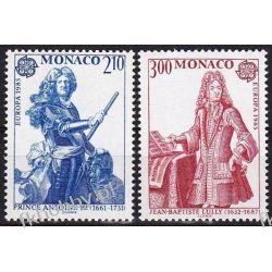 Monako 1985 Mi 1681-82 ** Cept Słania Muzyka Motoryzacja