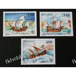 Monako 1992 Mi 2070-72 ** Europa Cept Statek Okręt Pozostałe