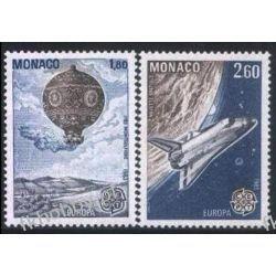 Monako 1983 Mi 1579-80 ** Europa Cept Kosmos Balon  San Marino