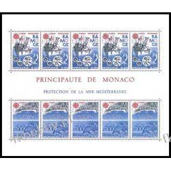 Monako 1986 Mi BL 32** Europa Cept Statek Ryby  Druk wklęsły