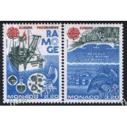 Monako 1986 Mi 1746-47 ** Europa Cept Statek Ryby  Druk wklęsły