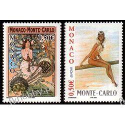 Monako 2003 Mi 2647-48 ** Europa Cept Erotyka Pozostałe