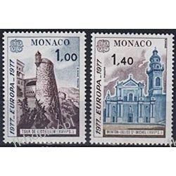 Monako 1977 Mi 1273-74 ** Europa Cept Kościół Polonica