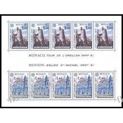 Monako 1977 Mi BL 11 ** Europa Cept Kościół  Marynistyka