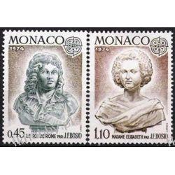 Monako 1974 Mi 1114-15 ** Europa Cept  Druk wklęsły