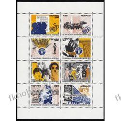 Monako 1995 Mi ark 2247-54 ** ONZ UNESCO Muzyka Pozostałe