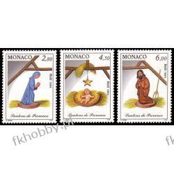 Monako 1994 Mi 2200-02 ** Boże Narodzenie Szopka Ssaki