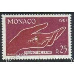 Monako 1961 Mi 670 ** Mrówka Dłoń Ręka  Pozostałe