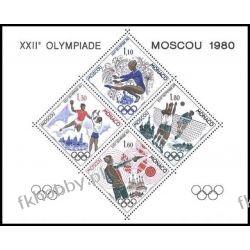 Monako 1980 Mi 1415-18 Sd ** Olimpiada Rarytas !!!  San Marino