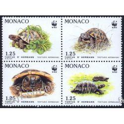 Monako 1991 Mi 2046-49 ** WWF Zwierzęta Żółw  Pozostałe