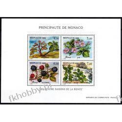 Monako 1996 Mi BL 71 ** Owoce Kwiaty  Dokumenty
