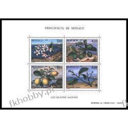Monako 1990 Mi BL 49 ** Owoce Kwiaty Pozostałe
