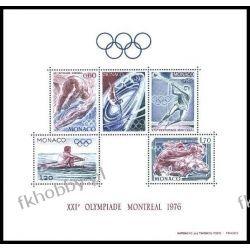 Monako 1976 Mi BL 9 ** Olimpiada Montreal Boks Marynistyka