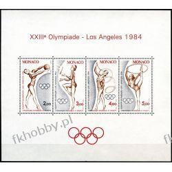 Monako 1984 Mi BL 25 ** Olimpiada Gimnastyka  Druk wklęsły