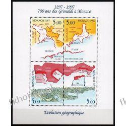 Monako 1997 Mi BL 73 ** Kartografia Mapa  Druk wklęsły
