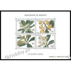 Monako 1985 Mi BL 29 ** Owoce Kwiaty  Ptaki