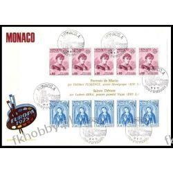 Monako 1975 FDC BL 8 Europa Cept Malarstwo Pozostałe