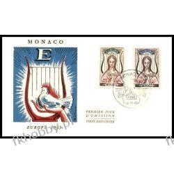 Monako 1963 FDC 742-43 Europa Cept Gołąb a  Pozostałe