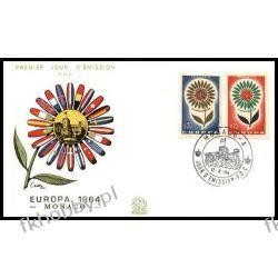Monako 1964 FDC 782-83 Europa Cept Kwiaty b  Druk wklęsły