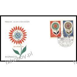 Monako 1964 FDC 782-83 Europa Cept Kwiaty c Całości i całostki
