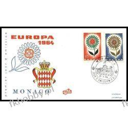 Monako 1964 FDC 782-83 Europa Cept Kwiaty d Całości i całostki