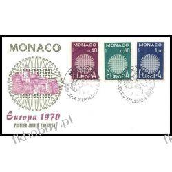 Monako 1970 FDC 977-79 Europa Cept a Pozostałe