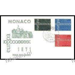 Monako 1971 FDC 1014-16 Europa Cept b Statki i okręty